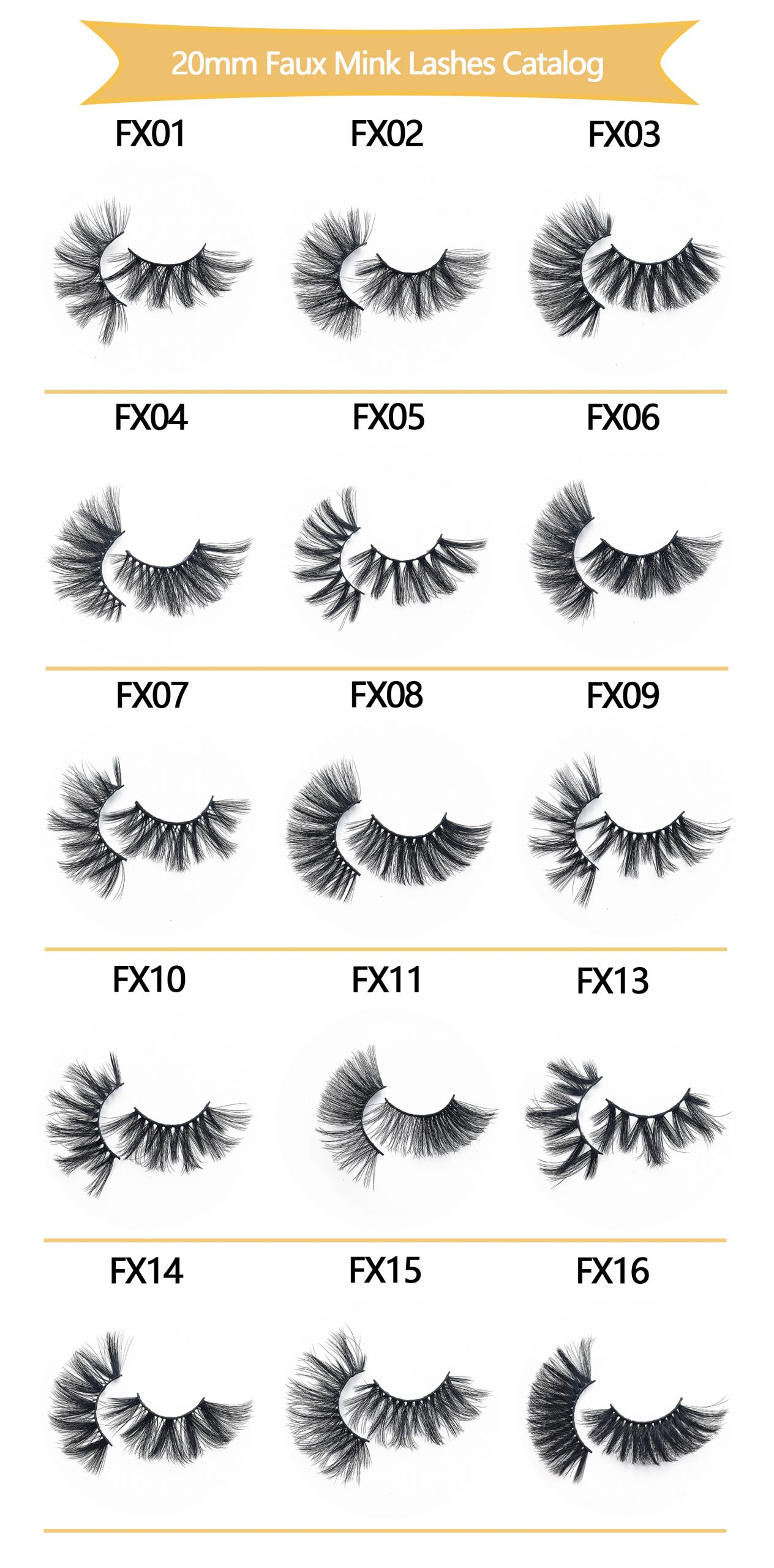 20mm Faux Mink Lashes Catalog 1